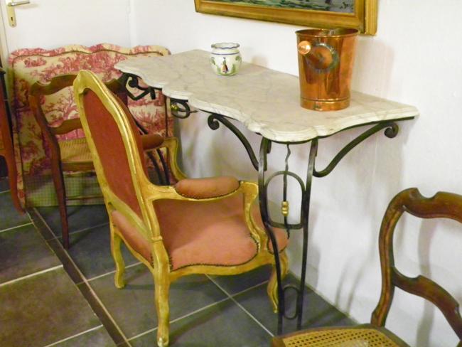 console fer forg et marbre 100 2434. Black Bedroom Furniture Sets. Home Design Ideas