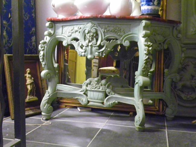 console 1900 fa on louis xv peinte faux marbre 100 2467. Black Bedroom Furniture Sets. Home Design Ideas