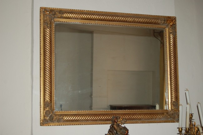 Miroir en bois dor epoque xix me si cle for Miroir in english